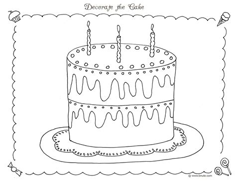 free coloring page cake birthday cake coloring pages free large images