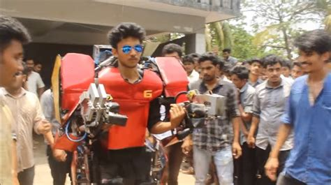 indian student attempts tony stark creating