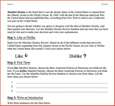 Destiny Essay by Scaffolding The History Essay In Middle School