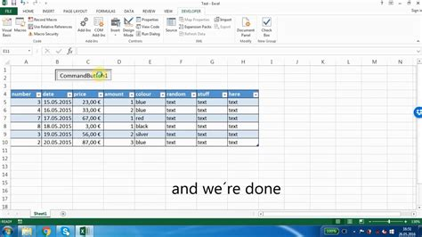 qml row layout exle excel 2013 how to add new row with a command button vba