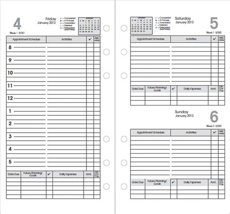 daily planner template word 2015 top 5 free daily planner templates word templates excel