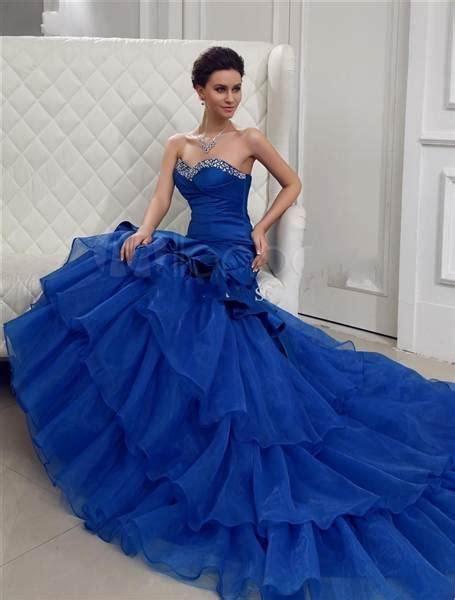 imagenes de vestidos de novia color azul vestidos de boda baratos de cola larga y azules