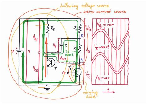 capacitor with current source what is the idea transistor current source with shifting capacitor