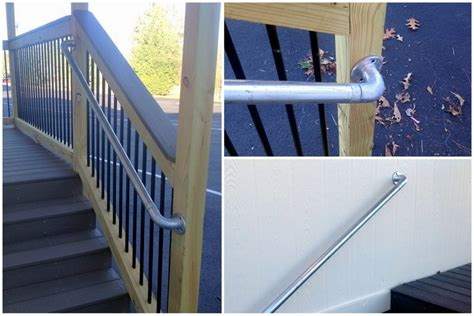 Banisters And Handrails Installation 5 Diy Metal Stair Railing Examples