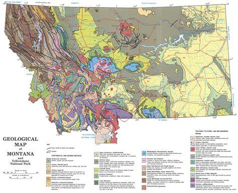 geological map of montana earth science picture of the week