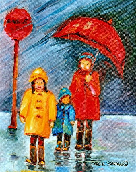 A Painting A Day by Rainy Day Paintings Montreal City Painting By