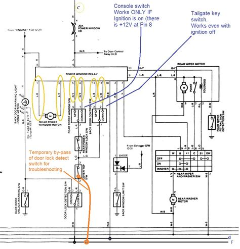 wiring diagram 4runner window regulator wiring diagram