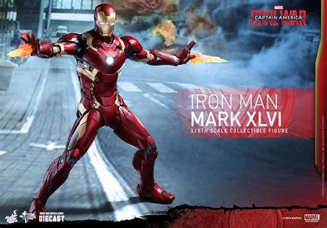 Gw Se 4e Ironman Set toys unveils captain america civil war diecast iron xlvi figure geektyrant