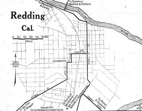 redding section 8 maps of redding city map california united states 1917