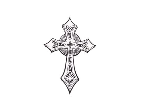 celtic cross with roses tattoo designs cross coloring pages cross color pages pictures