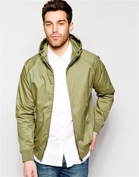 Jaket Harrington Jaket Taslan Parka Jaket Bomber Cewek Wanita Army ben sherman harrington jacket with in green for lyst