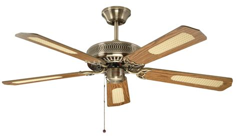 to ceiling fan fantasia classic 52 antique brass ceiling fan 110224