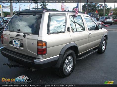 1998 beige metallic nissan pathfinder 1998 nissan pathfinder se 4x4 beige metallic blond photo
