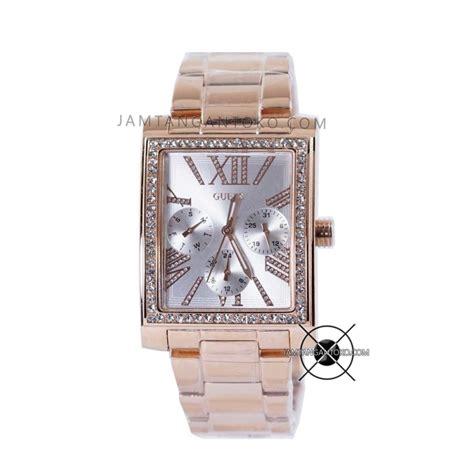 Jam Tangan Wanita Guess 3 Rantai Permata 2 Pilihan Warna harga sarap jam tangan guess wanita w044l3 kotak gold permata