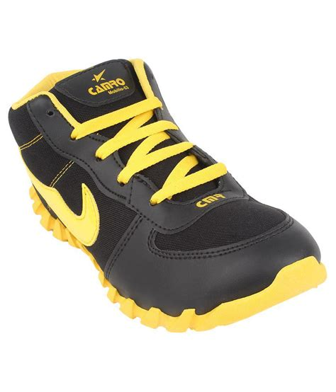 Sport Shoes Black Yellow 56125 bersache black yellow sports shoes price in india buy