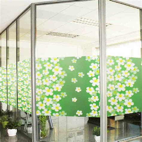 Sliding Glass Door Privacy Lilac Flower Heat Proof Sliding Door Static Cling Privacy Stained Glass Window 75cmx200cm