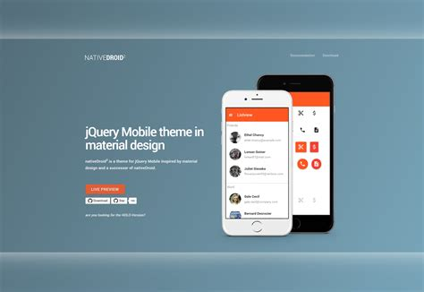 layout view jquery mobile 50 fresh resources for designers november 2015