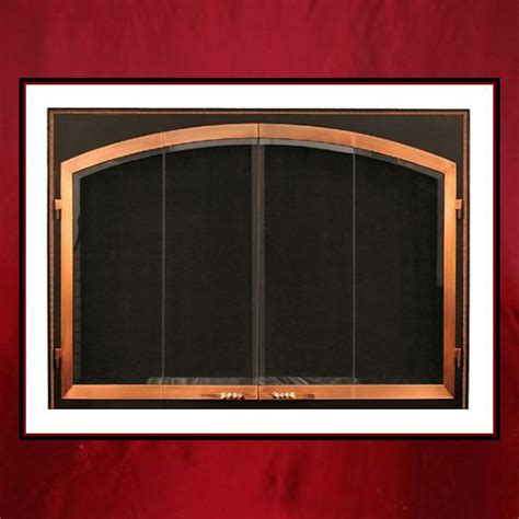 Custom Fireplace Glass Doors by Flat Arch Glass Door In Square Frame Dk Northshore Fireplace