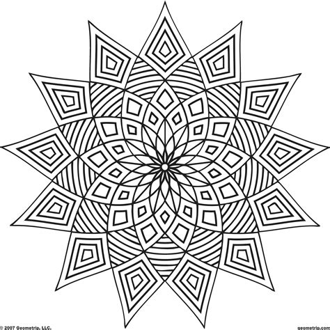 coloring design pages printables geometric design coloring pages printable