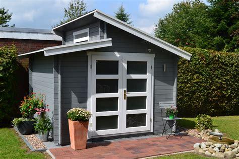 Gartenhaus Grau Pultdach
