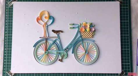 Home Decoration With Paper how to make quilling bicycle with flowers crazzy crafts
