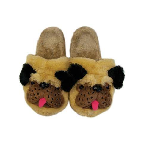 slippers for dogs womens pug slippers slip on fits up to uk 7