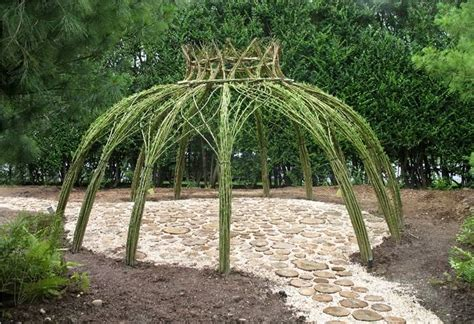 willow gazebo living willow structures on pinterest willow branches