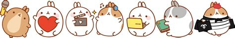 Nn Rabbit Pink molang we all are molang like the official fan