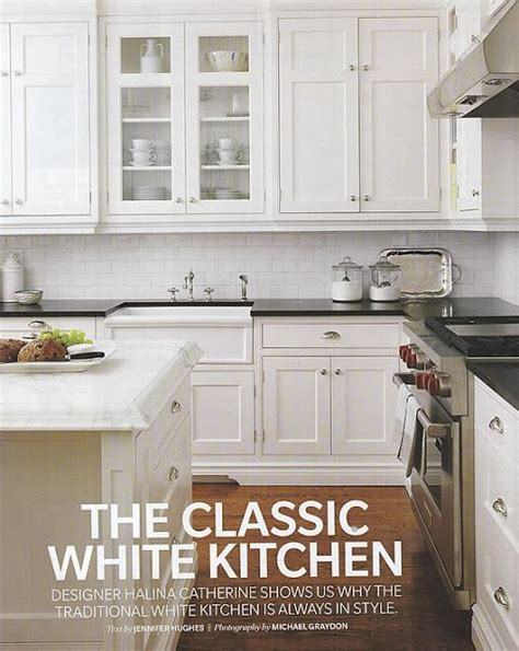 Classic Kitchens Cabinets Classic White Kitchen And I It The White Cabinets Black Counter White Subway Tile