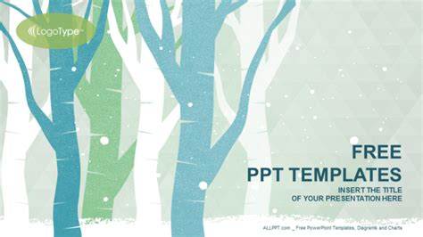 free winter powerpoint templates winter trees nature powerpoint templates