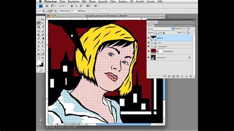 tutorial photoshop roy lichtenstein photoshop tutorial portr 228 t im stil von roy lichtenstein