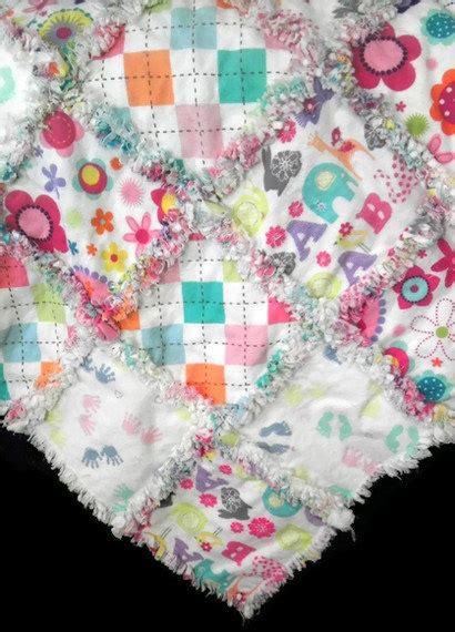 Flannel Baby Quilt by Flannel Baby Rag Quilt For