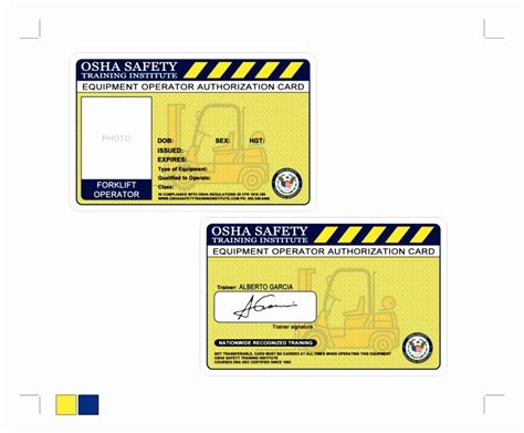 Forklift Certification Cards Blank Bing Images Forklift Card Template