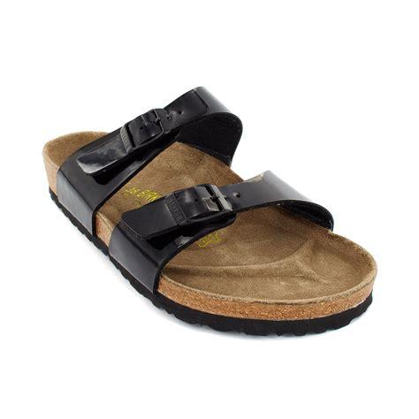 Birkenstock Sydney Comfort Sandals In Black Black Patent