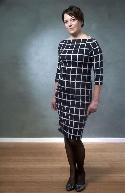 boat neck top dress pattern new sewing pattern 407 annika boat neck dress