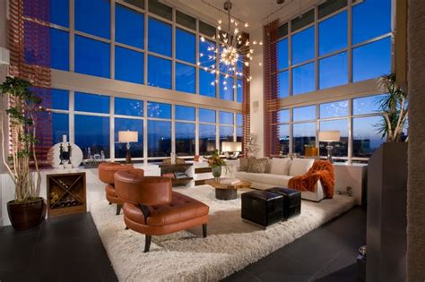 3 Bedroom Apartments In Orange County penthouse modern living room orange county by