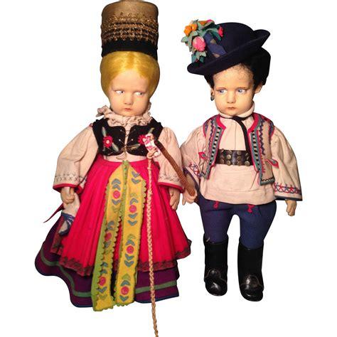 lenci doll 300 series pair of lenci dolls representing czechoslovakia 300