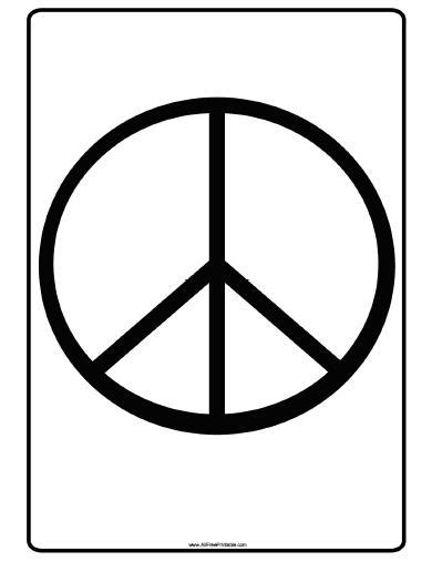 Printable Peace Signs