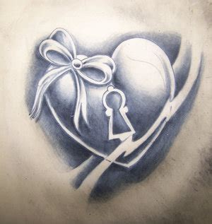shaded heart tattoos designs grey ink design tattooshunt