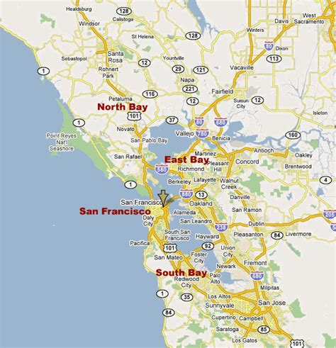 map of san francisco bay area images and places pictures and info san francisco bay map