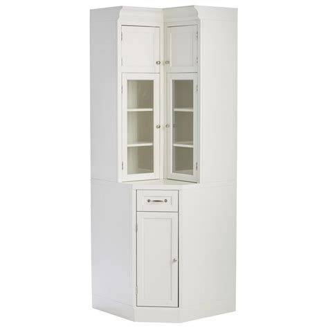 Home Depot Corner Kitchen Cabinet by Home Decorators Collection Royce True White Modular Corner