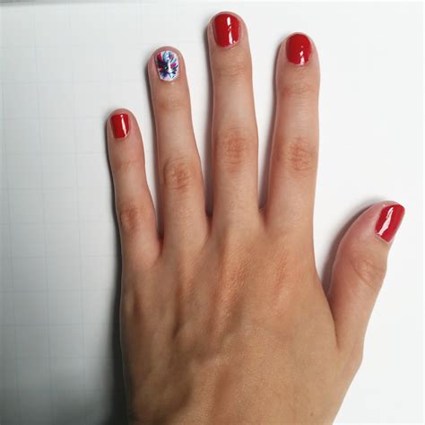easy nail art clean up easy 4th of july nail art sorority fashion