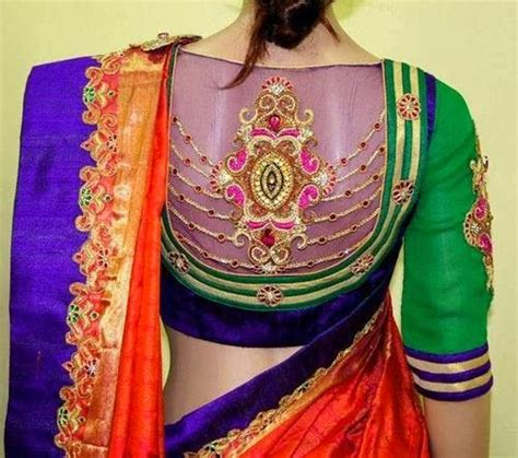 blouse pattern net saree high neck net blouse saree blouse patterns heavy work