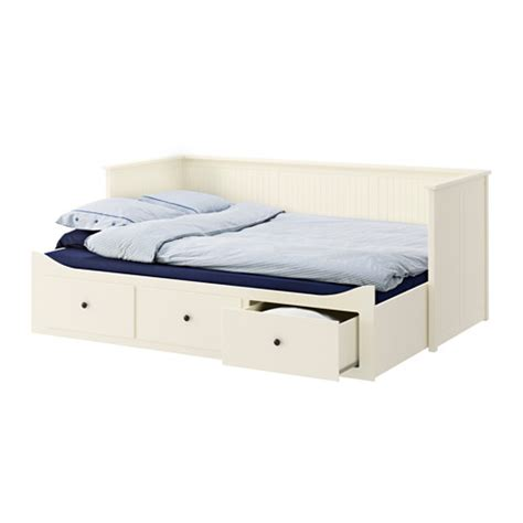 Hemnes Day Bed Frame With 3 Drawers White 80x200 Cm Ikea Ikea Bed Frame Hemnes