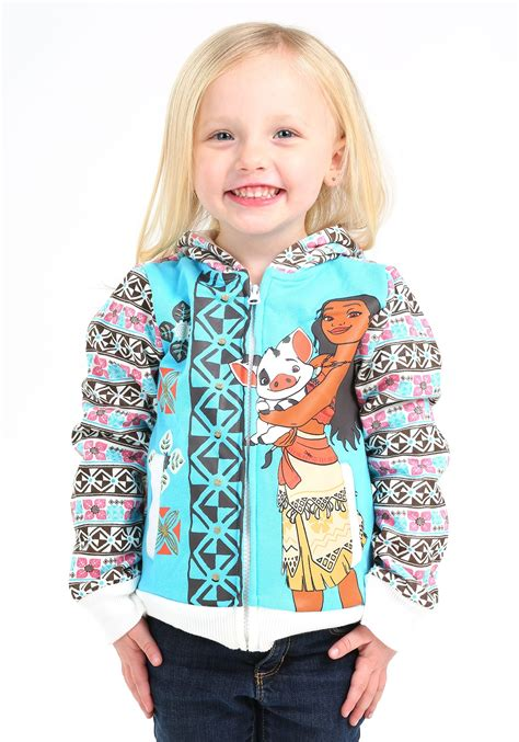 moana and pua hooded sweatshirt for toddler
