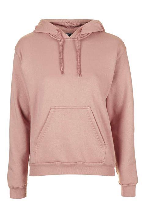 Top Shoo topshop clean hoodie in pink blush lyst
