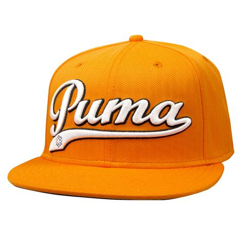 logo script cool cell snapback cap vibrant orange