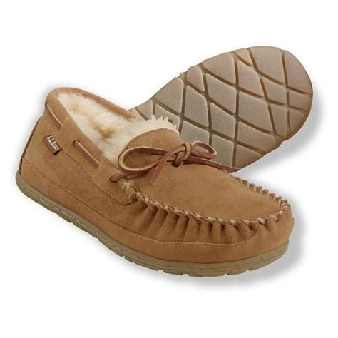 ll bean slippers mens ll bean men s moccasin slippers beans