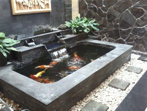 Pompa Kolam Ikan kumpulan contoh kolam ikan minimalis depan rumah rumah
