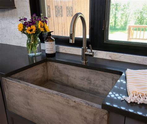 how to a concrete farmhouse sink industrial farmhouse interiors for a family of 5 home